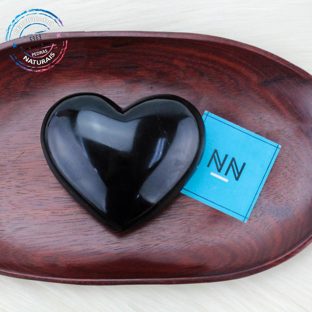 Coração de Obsidiana Preta in Natura #NN104