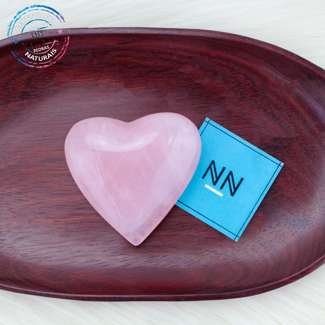 Coração de Quartzo Rosa in Natura #NN102