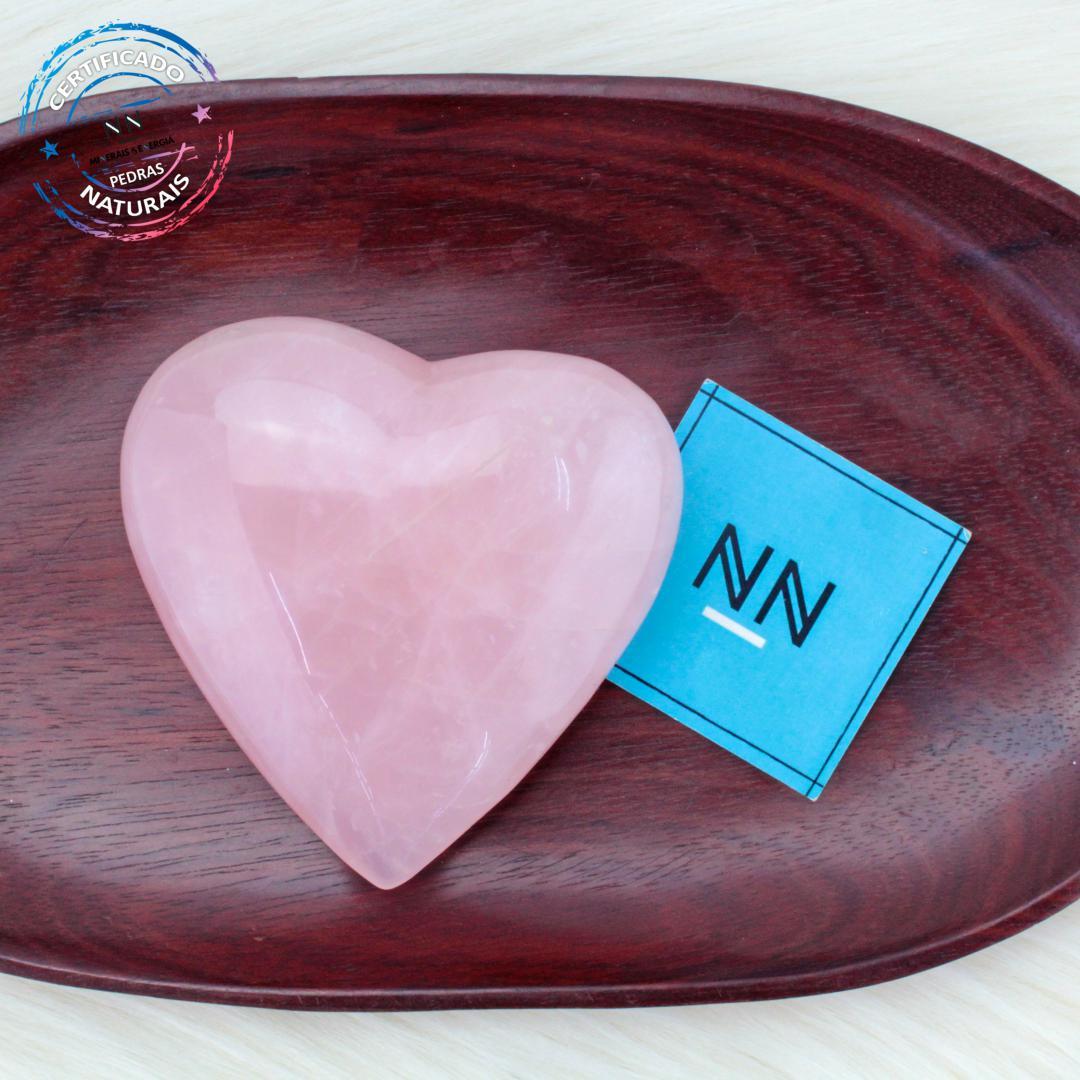 Coração de Quartzo Rosa in Natura #NN101
