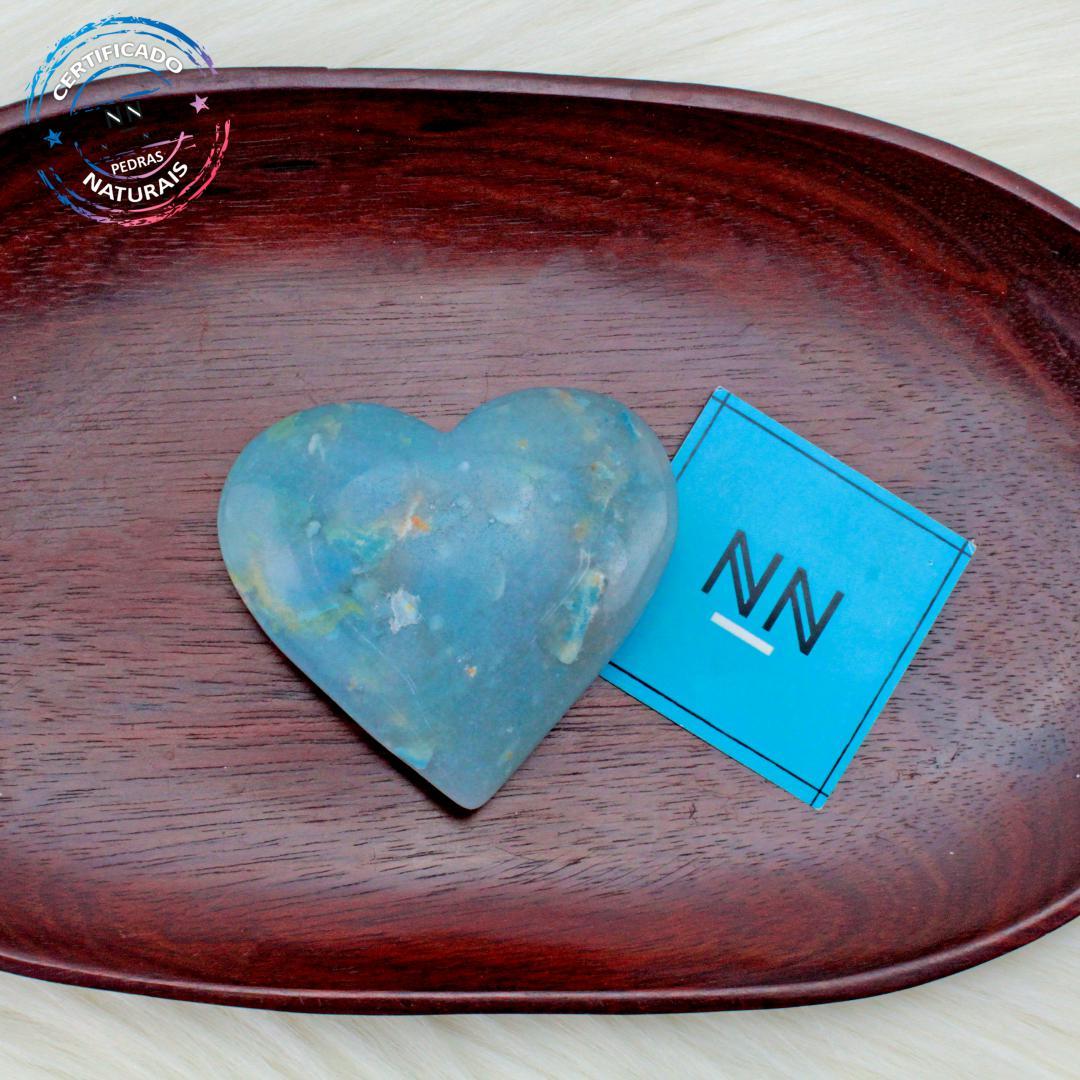 Coração de Trolita in Natura (0,136gkg; 2,4cm) #NN135