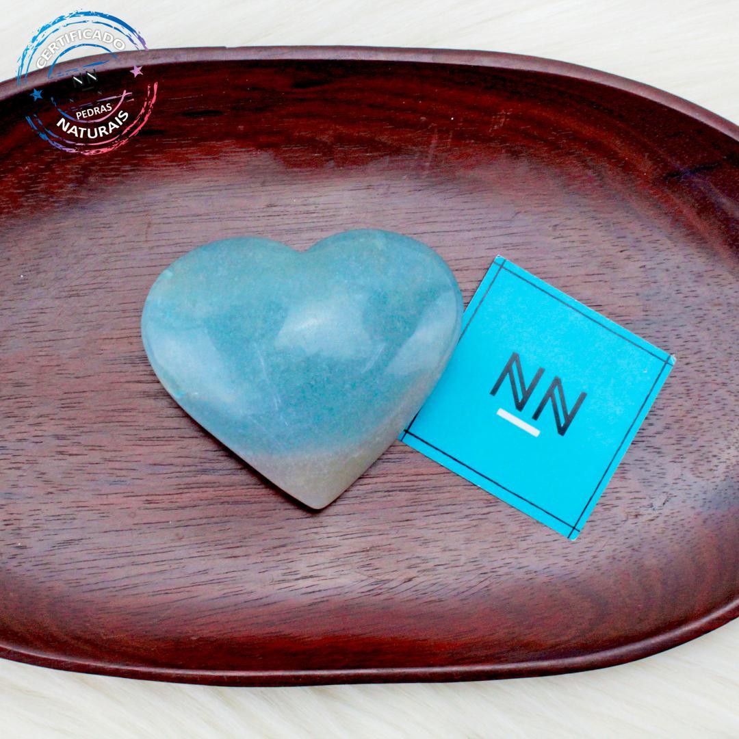 Coração de Trolita in Natura (0,158kg; 2,8cm) #NN136