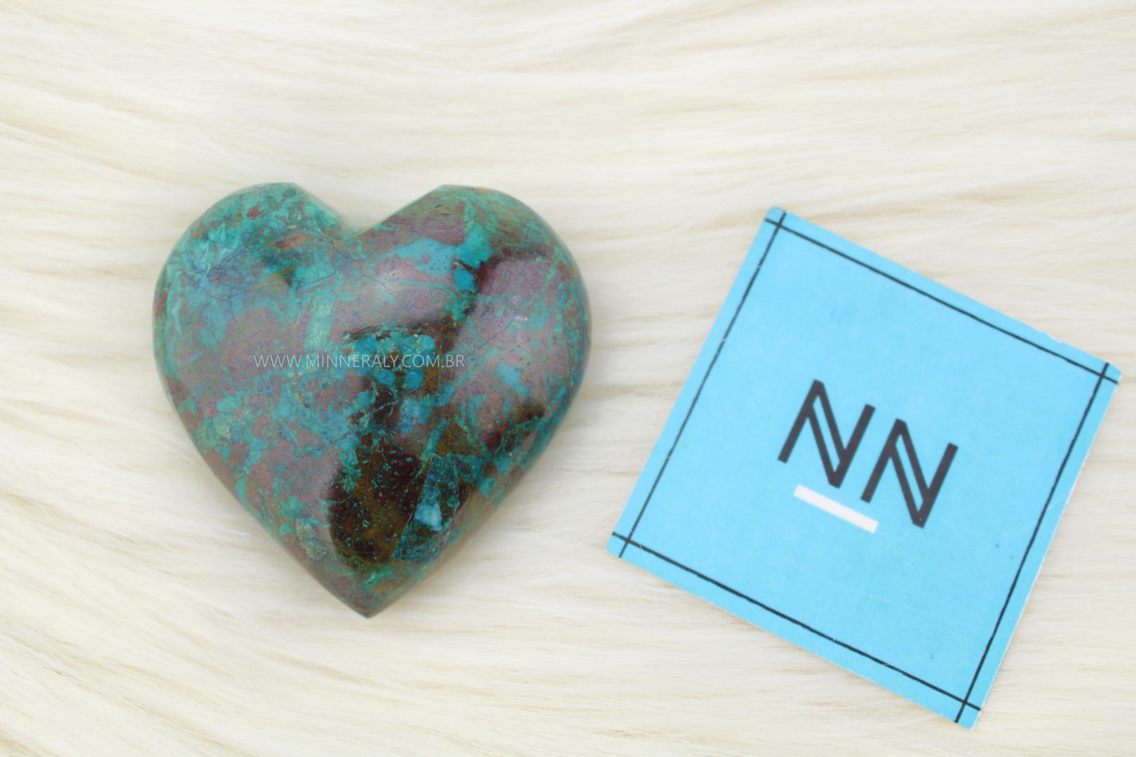 Coração de Crisocola in Natura #NN104