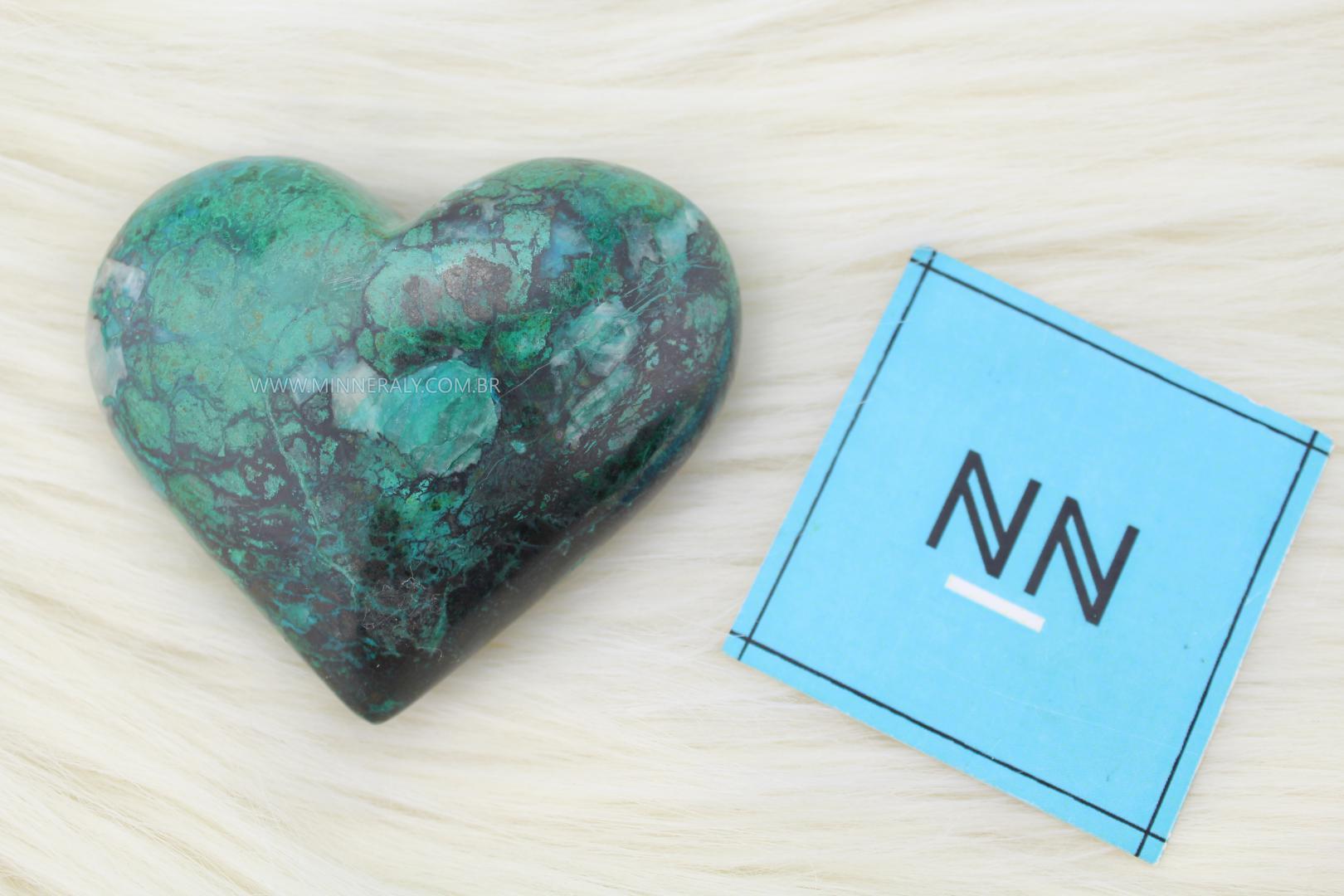 Coração de Crisocola in Natura #NN105