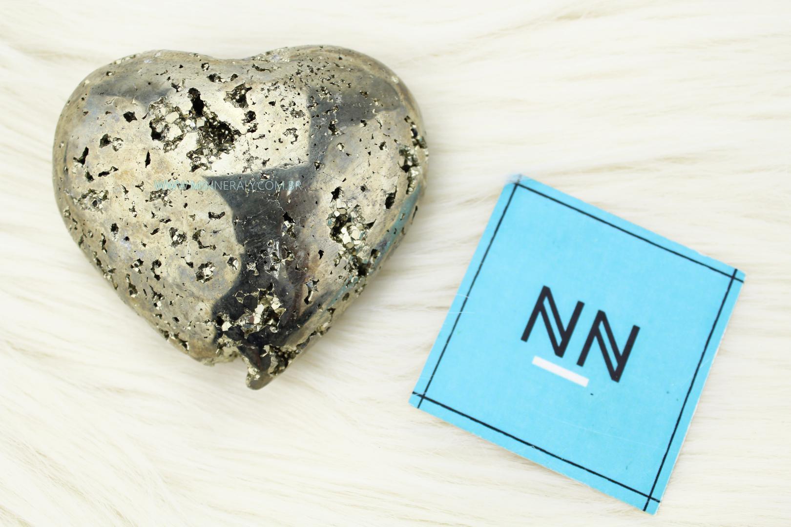 Coração de Pirita in Natura (0,285kg; 3,1cm) #NN121