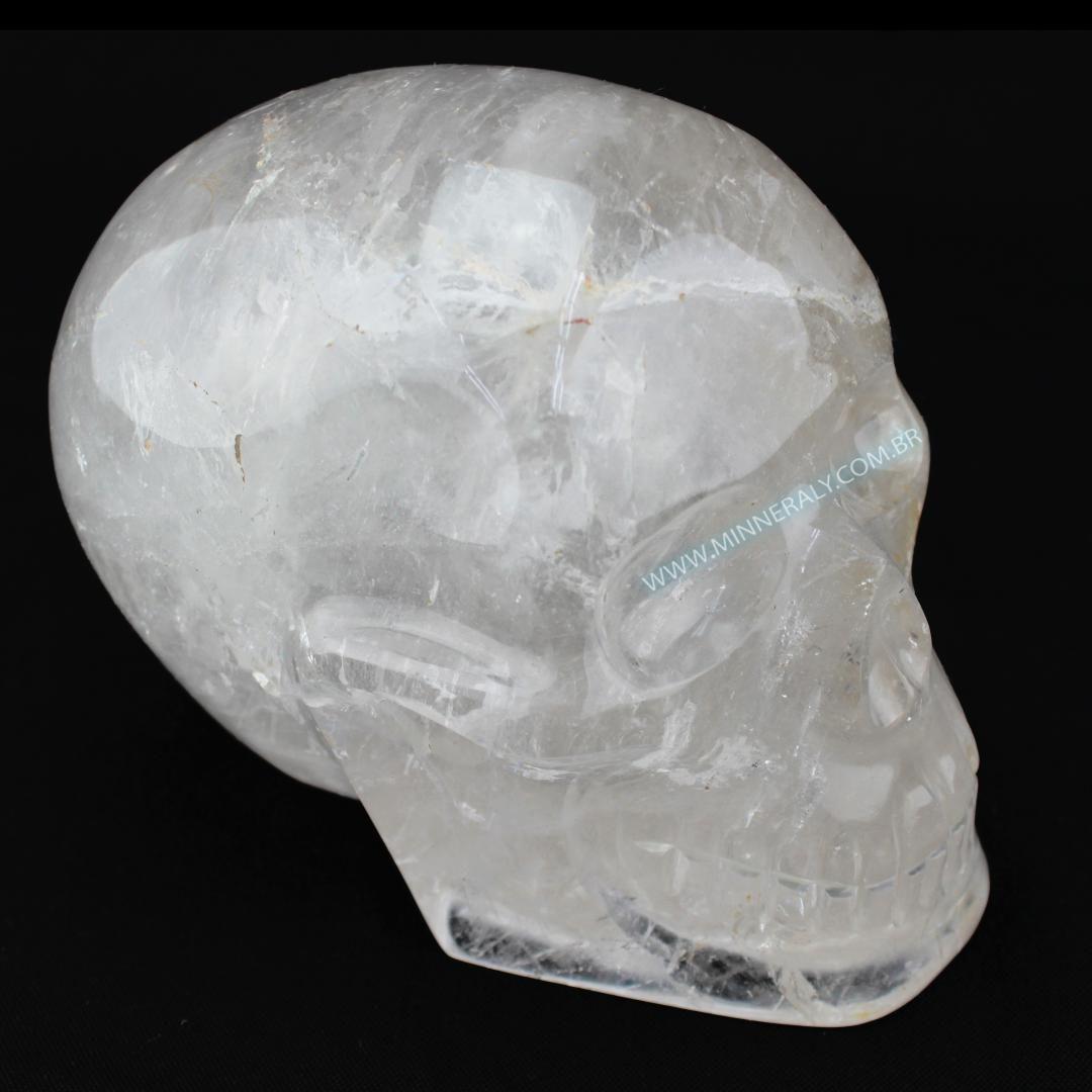 Crânio de Quartzo ou Cristal in Natura #NN112