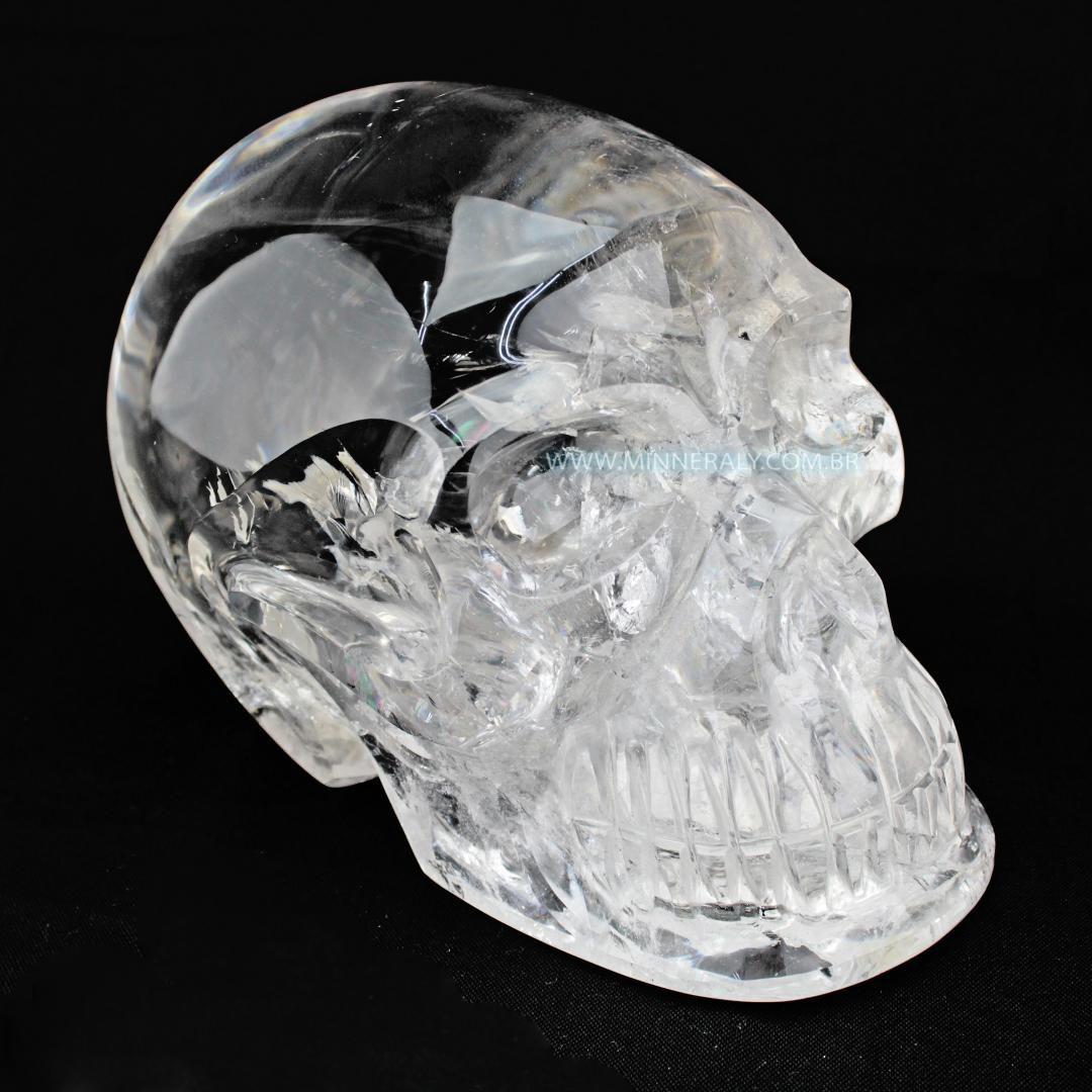Crânio de Quartzo ou Cristal Branco in Natura (5,895kg; 15,0cm) #NN112