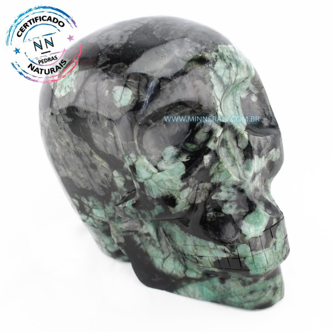 Cranio de Esmeralda IN Natura (10,805KG; ALT: 18,0CM)