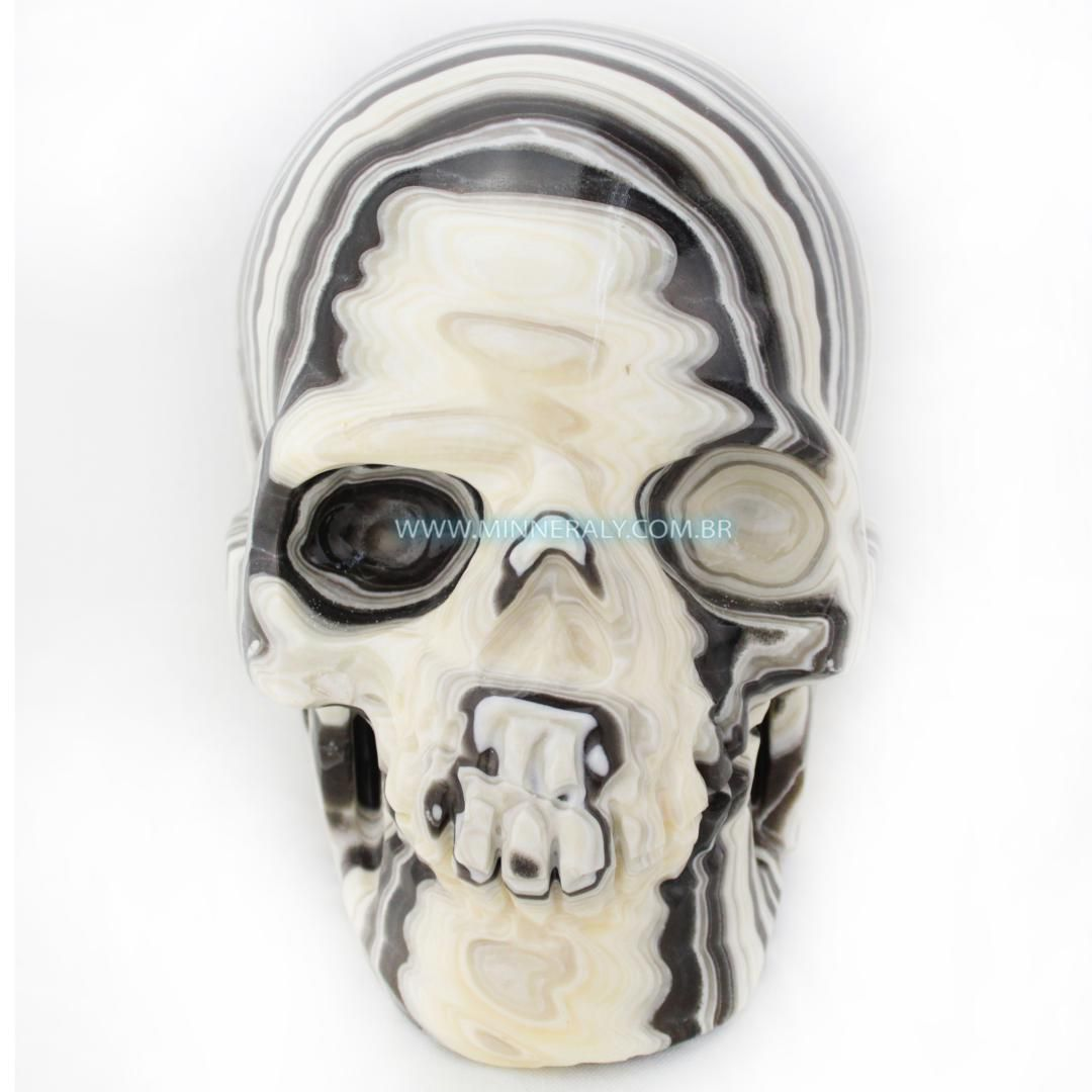 Cranio de ONIX Aragonita IN Natura (4,640KG; ALT: 15,0CM; COMP: 12,0CM; LARG: 18,5CM)