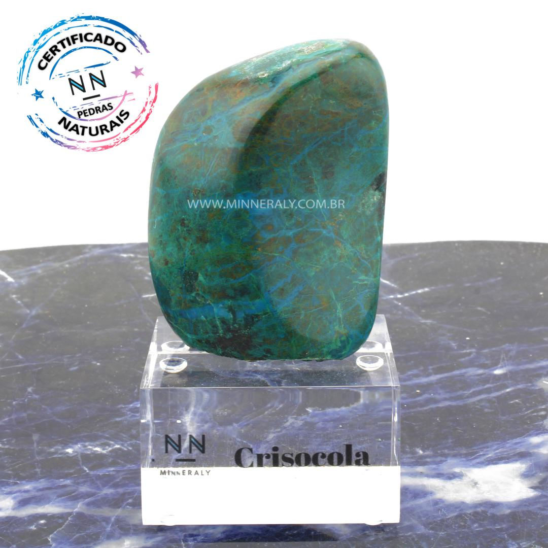 Crisocola IN Natura Clear.collection (0,505KG; ALT: 12,8CM; COMP: 5,5CM; LARG: 7,0CM)