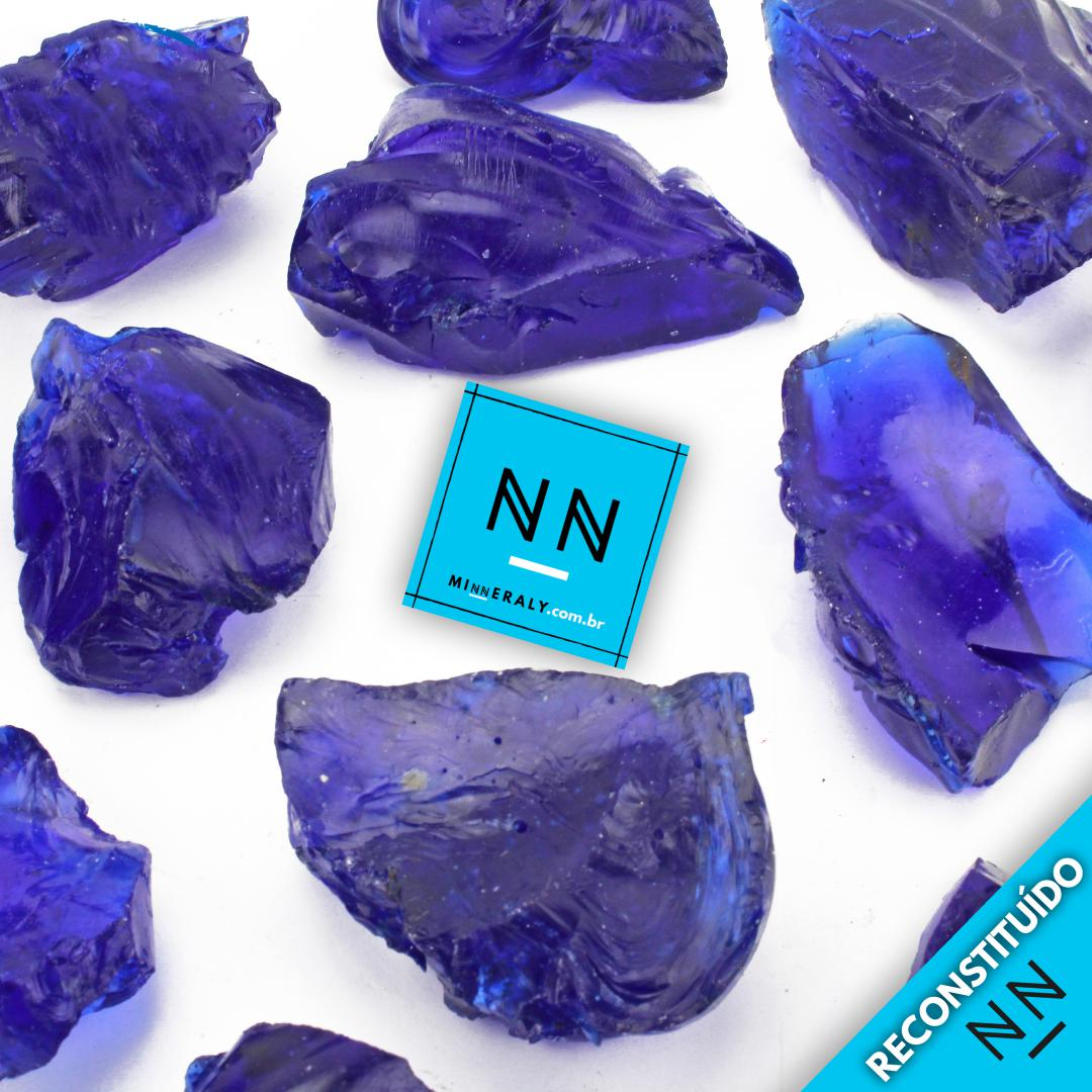 Cristal Andara Azul Reconstituída Bruta/Peça