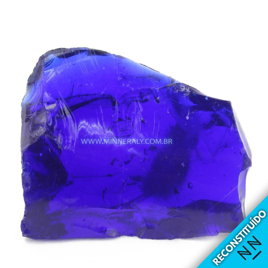 Cristal Andara Azul Reconstituído em Bruto #NN230