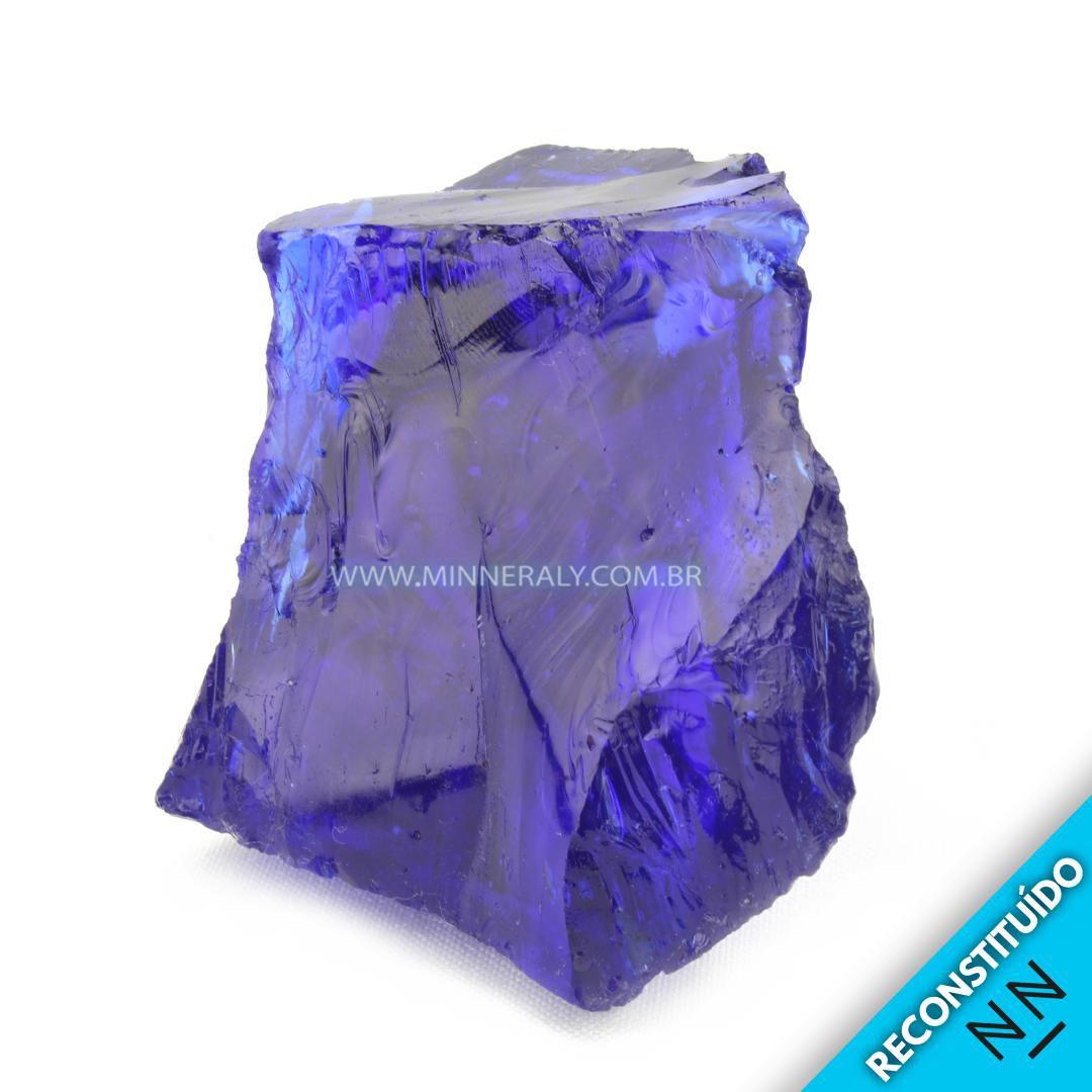 Cristal Andara Azul Reconstituído em Bruto #NN228