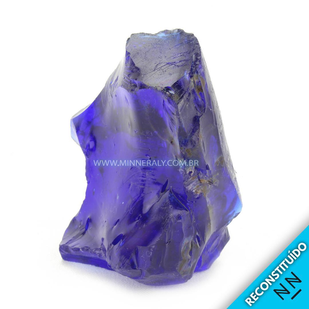 Cristal Andara Azul Reconstituída em Bruto #NN229