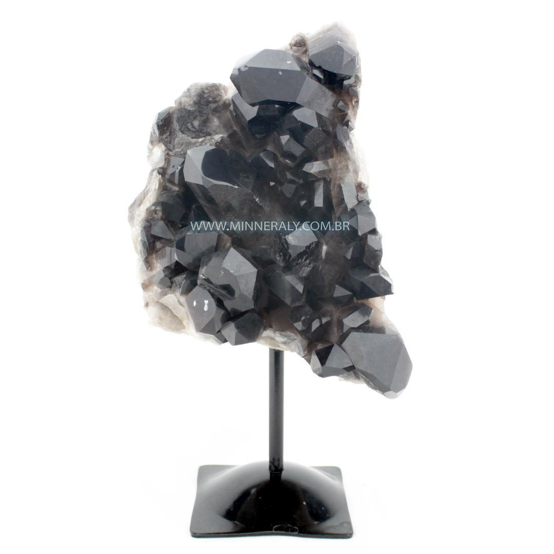 Quartzo ou Cristal Fume (enfumacado) IN Natura Metal.collection (4,535KG; ALT: 29,0CM; COMP: 15,0CM; LARG: 15,0CM)