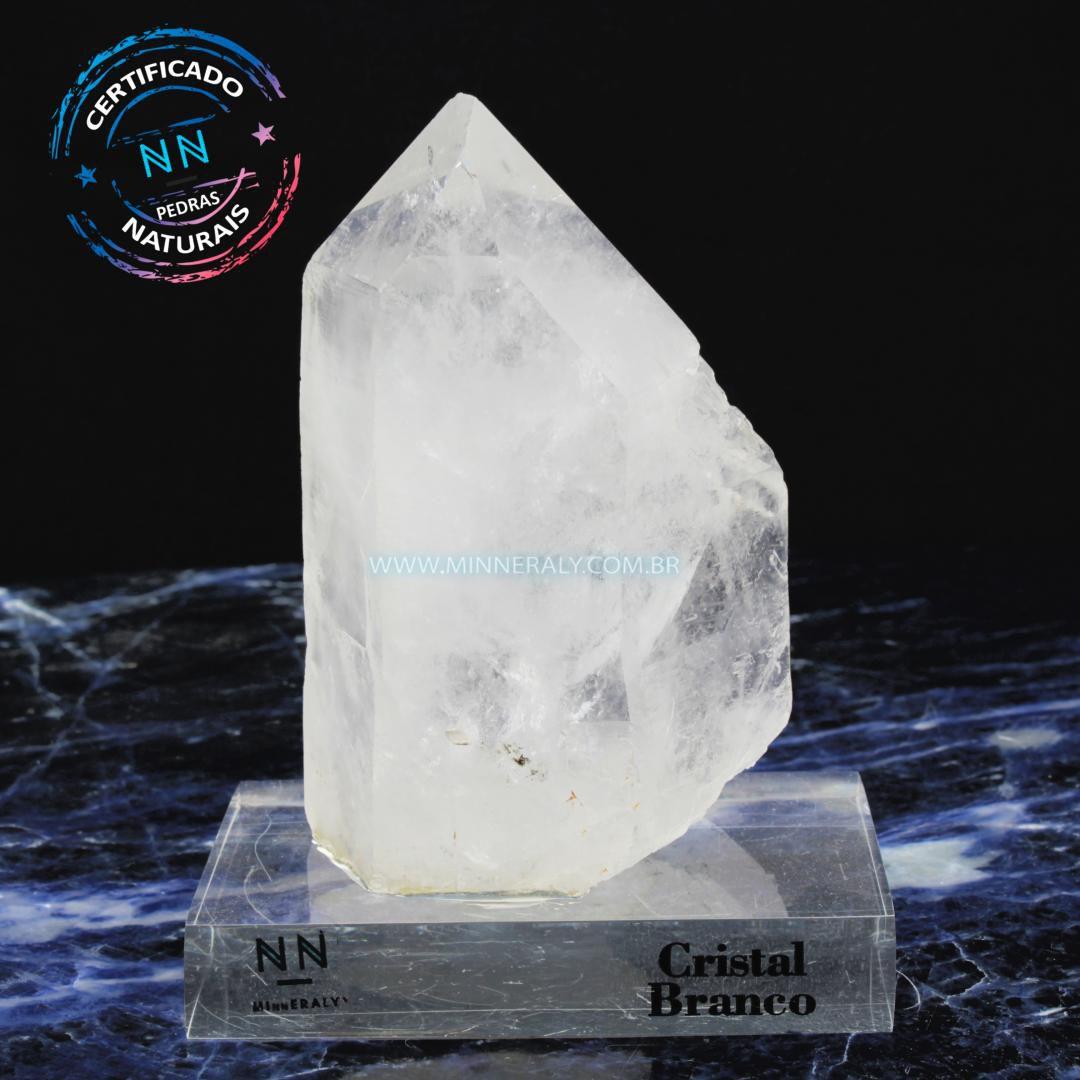 Ponta de Quartzo ou Cristal Branco in Natura Clea.Collection (1,045kg; 14,0cm) #NN121