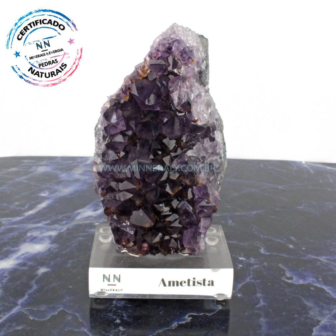 Drusa de Ametista IN Natura Clear.collection (0,835KG; ALT: 17,0CM; COMP: 8,5CM; LARG: 4,1CM)