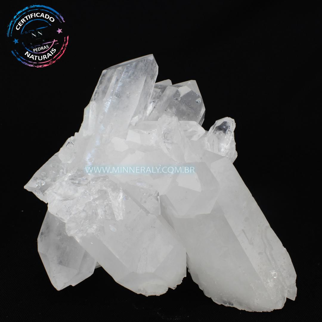 Drusa de Quartzo ou Cristal Branca in Natura em Bruto (1,076kg; 11,0cm) #NN103