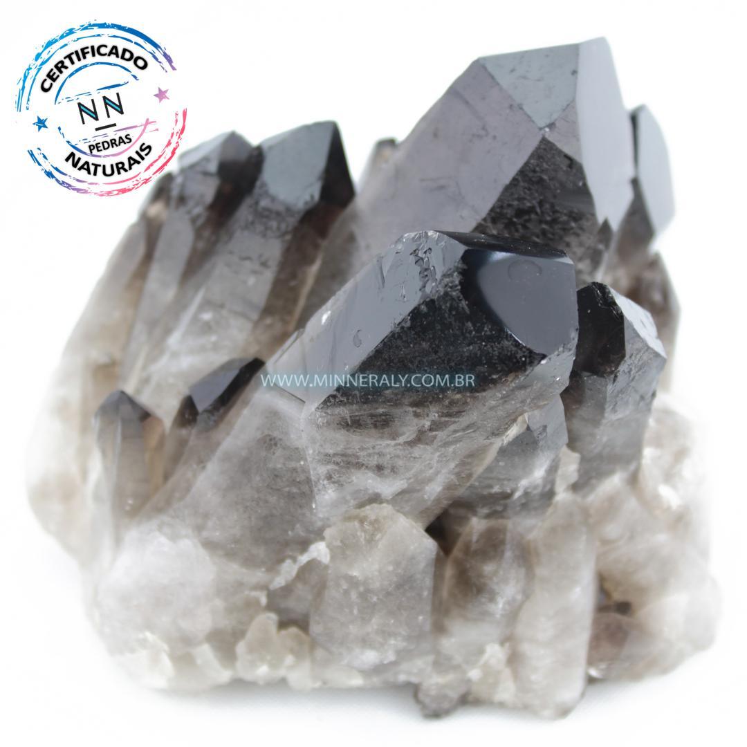 Drusa de Quartzo ou Cristal Fumê (Enfumaçado) in Natura em Bruto (0,855kg; 8,0cm) #NN106