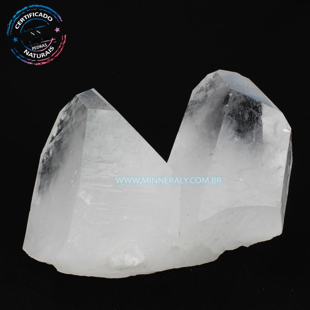 Drusa de Quartzo ou Cristal Branca in Natura em Bruto (1,460kg; 12,0m) #NN116