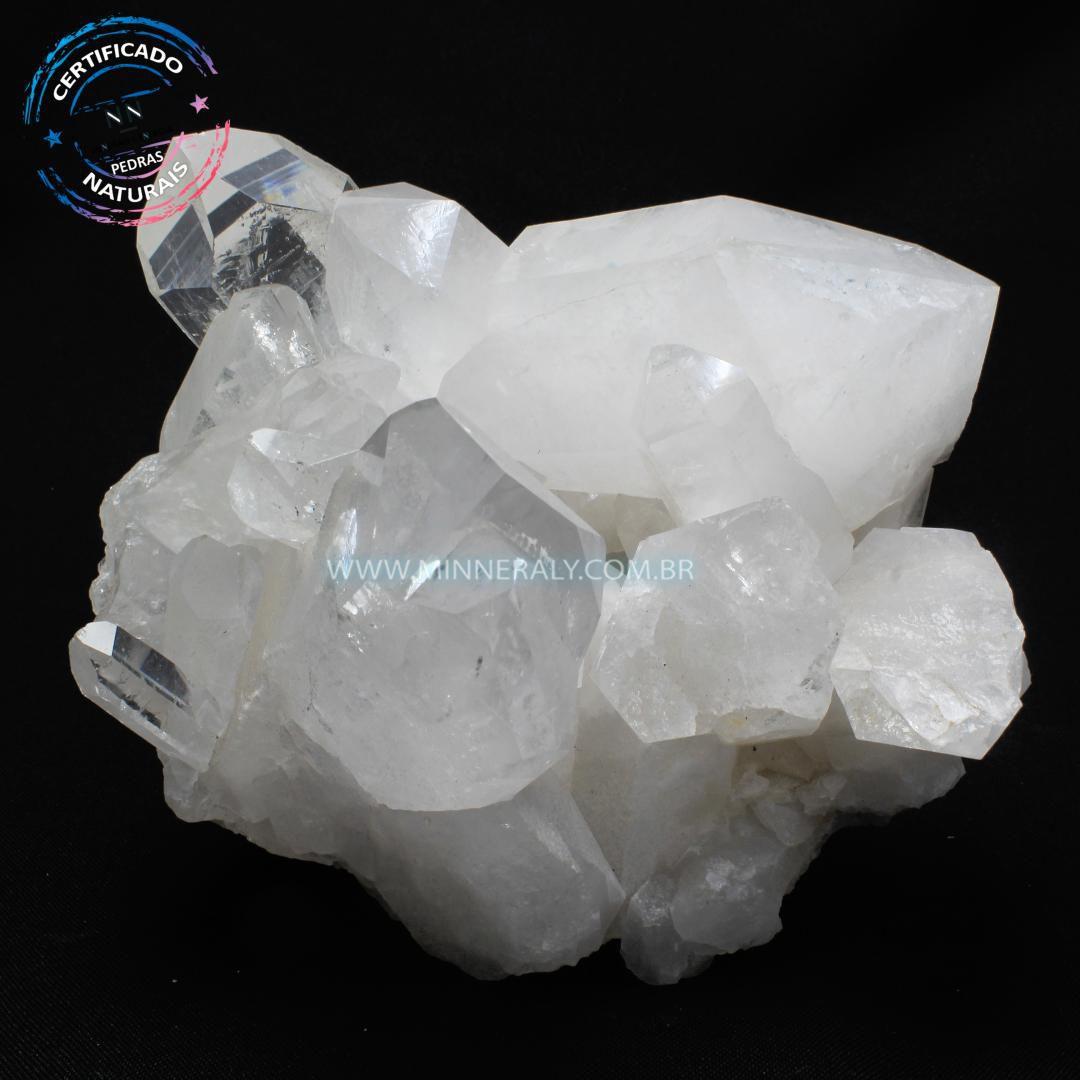 Drusa de Quartzo ou Cristal Branca in Natura em Bruto (2,548kg; 14,0cm) #NN108