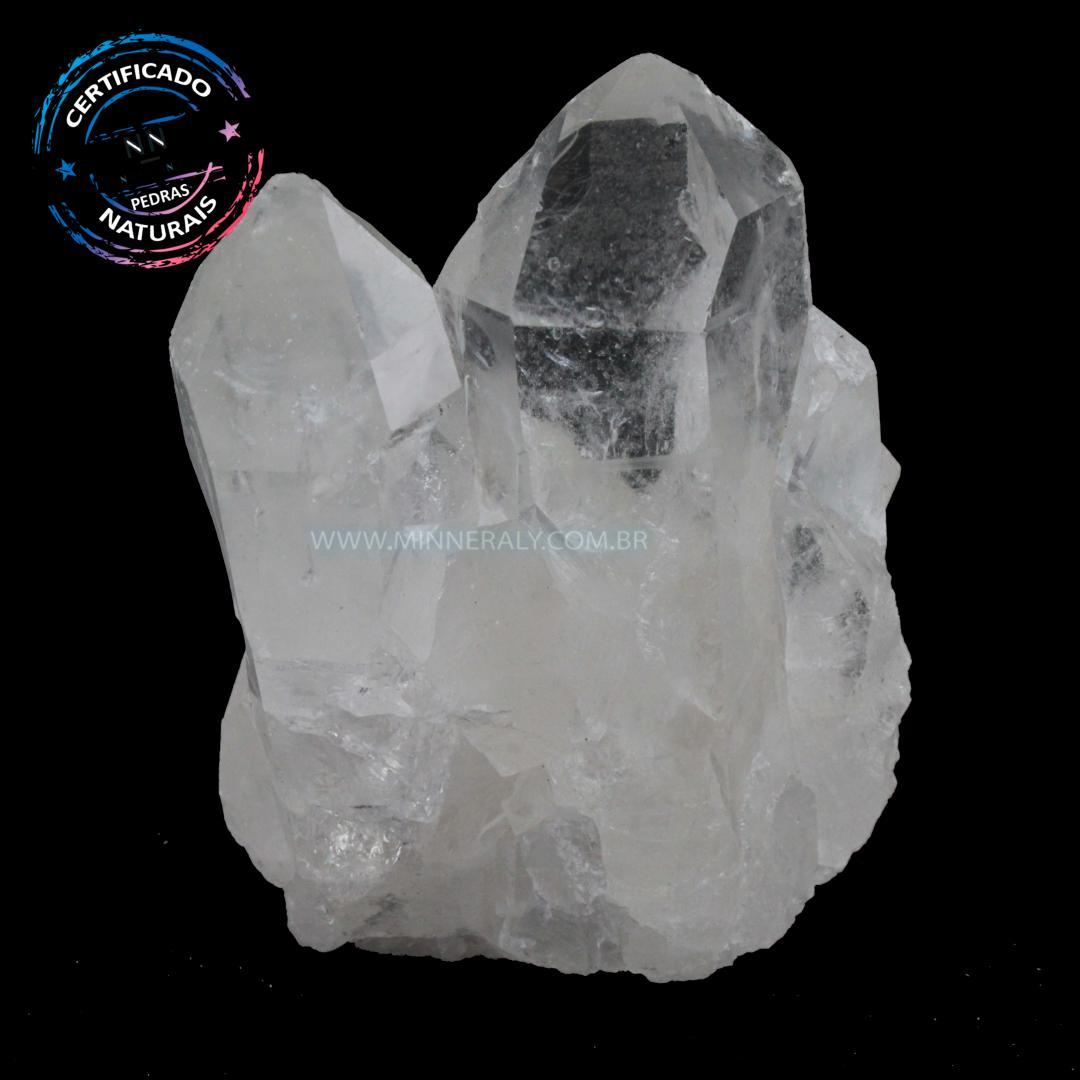 Drusa de Quartzo ou Cristal Branco IN Natura em Bruto (0,140KG; ALT: 6,4CM; COMP: 5,0CM; LARG: 3,5CM)