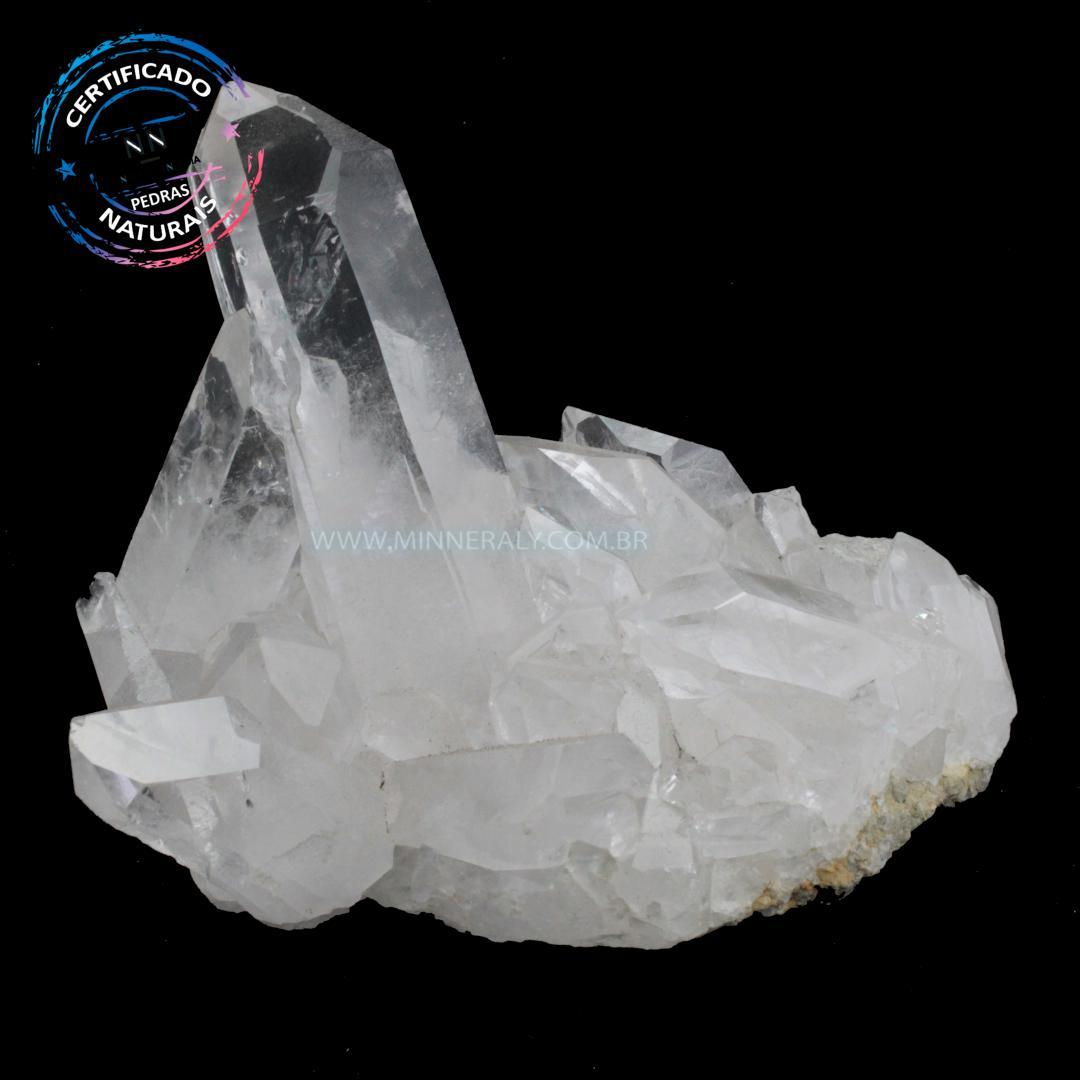 Drusa de Quartzo ou Cristal Branco IN Natura em Bruto (0,500KG; ALT: 7,5CM; COMP: 12,4CM; LARG: 10,3CM)