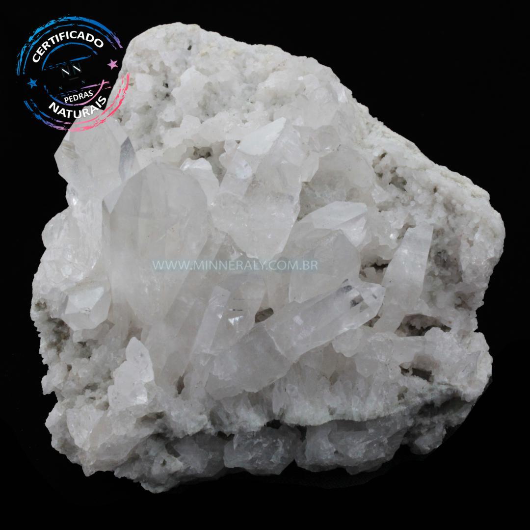 Drusa de Quartzo ou Cristal Branco IN Natura em Bruto (0,840KG; ALT: 9,8CM; COMP:12,0CM; LARG: 10,0CM)