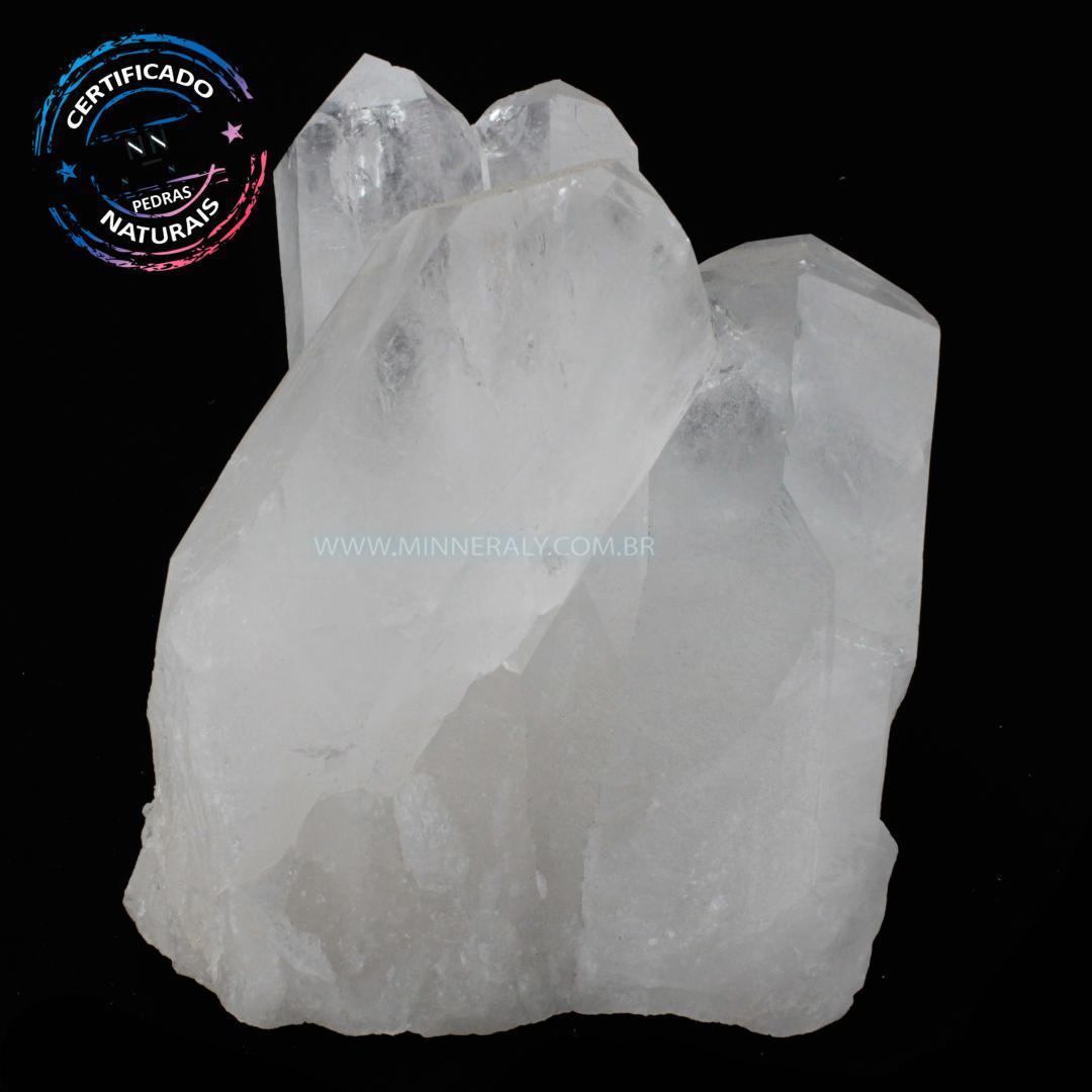 Drusa de Quartzo ou Cristal Branco IN Natura em Bruto (1,914KG; ALT: 13,1CM; COMP:12,4CM; LARG: 10,3CM)
