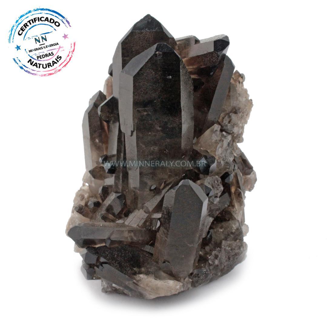 Drusa Quartzo ou Cristal Fumê (enfumaçado) IN Natura em Bruto (0,376KG; ALT: 9,3CM; COMP: 7,2CM; LARG: 5,8CM)