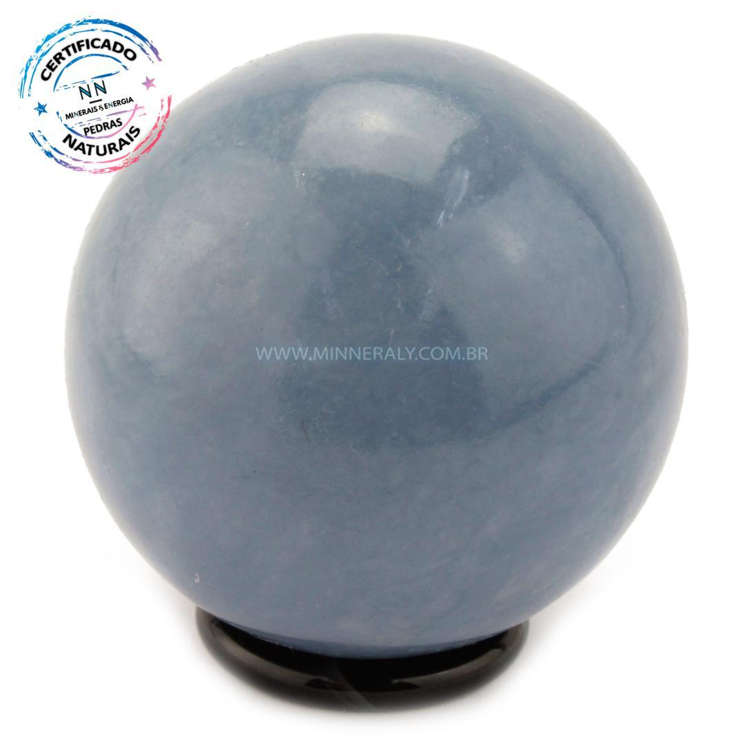 Esfera de Angelita (anidrita AZUL) IN Natura (0,344KG; Diam: 6,0CM)