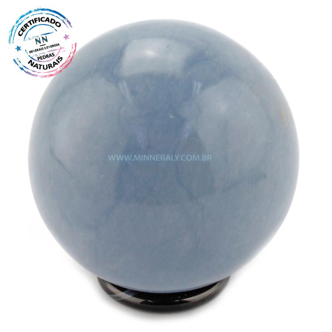 Esfera de Angelita (anidrita AZUL) IN Natura (0,414KG; Diam: 6,4CM)