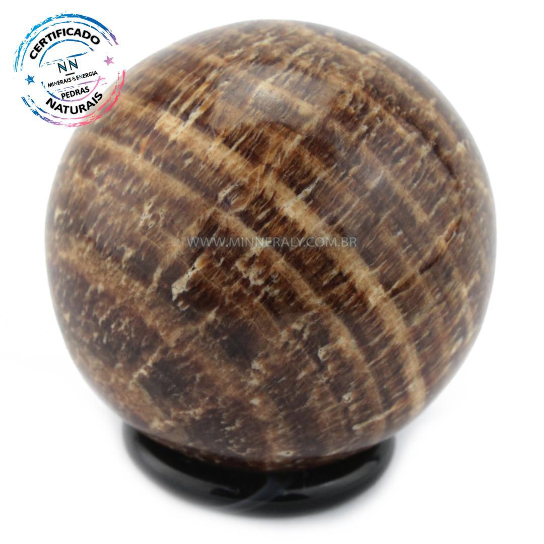 Esfera de Aragonita (calcita) Rajada IN Natura (0,200KG; Diam: 5,8CM)