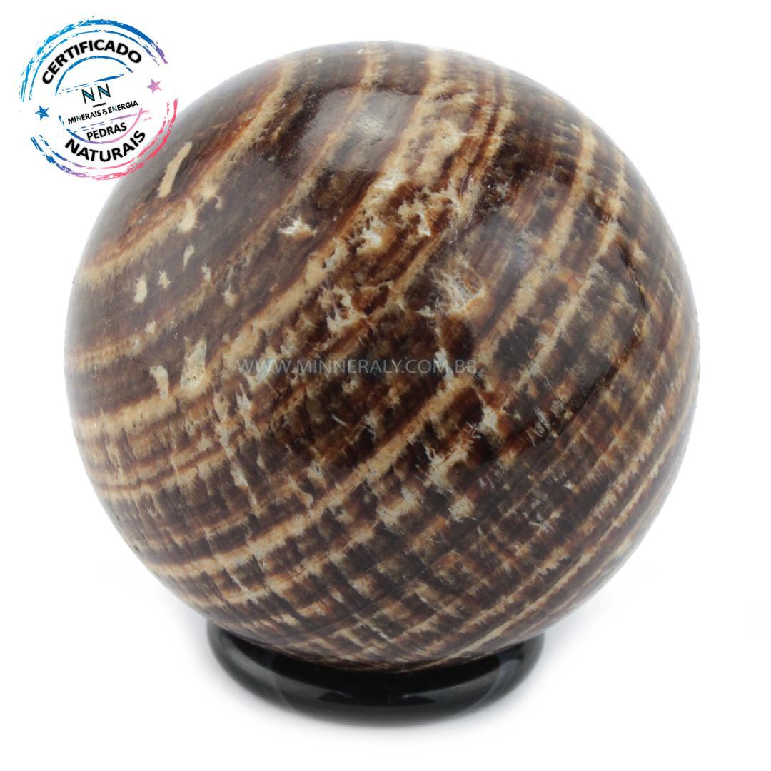 Esfera de Aragonita (calcita) Rajada IN Natura (0,292KG; Diam: 6,5CM)