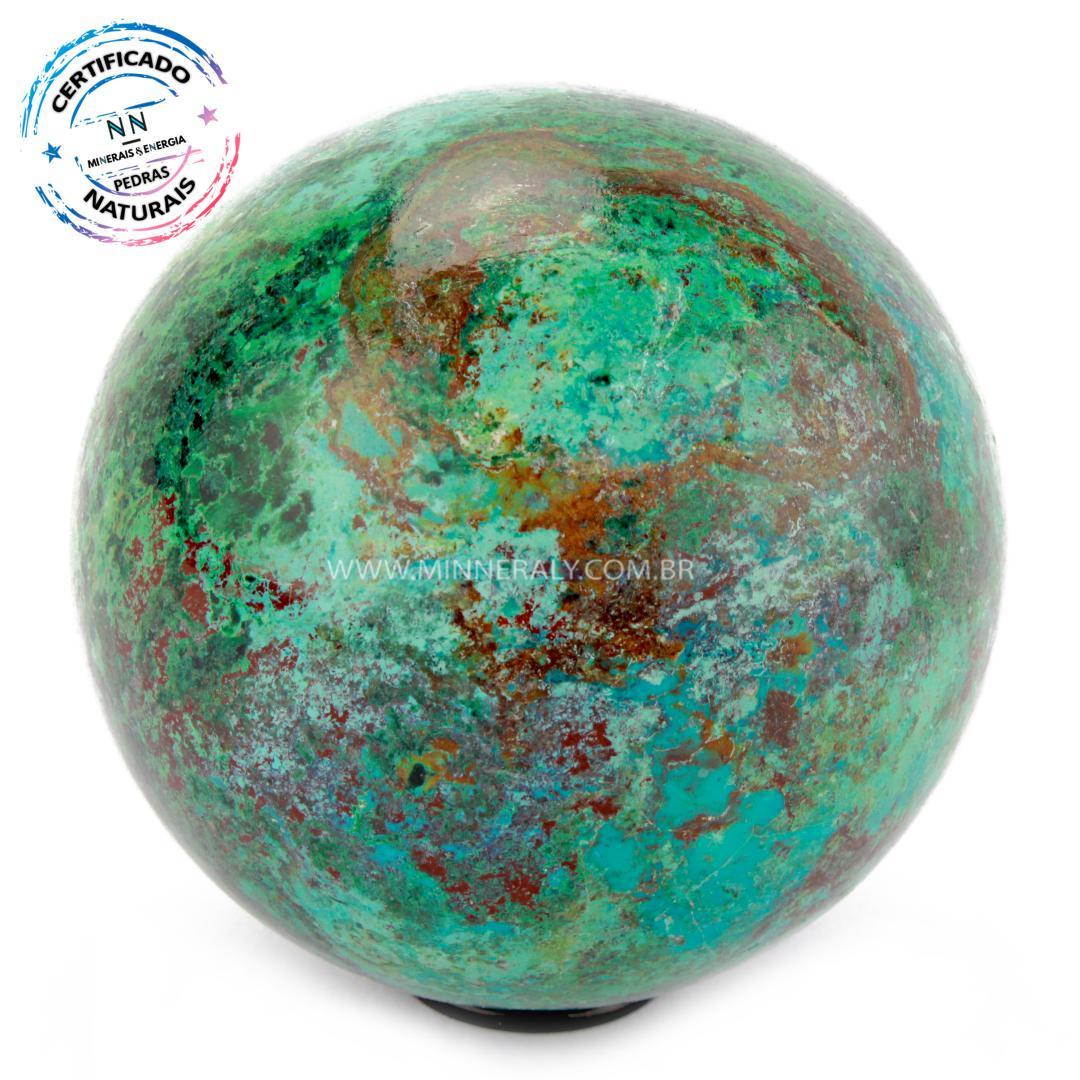 Esfera de Crisocola in Natura #NN102