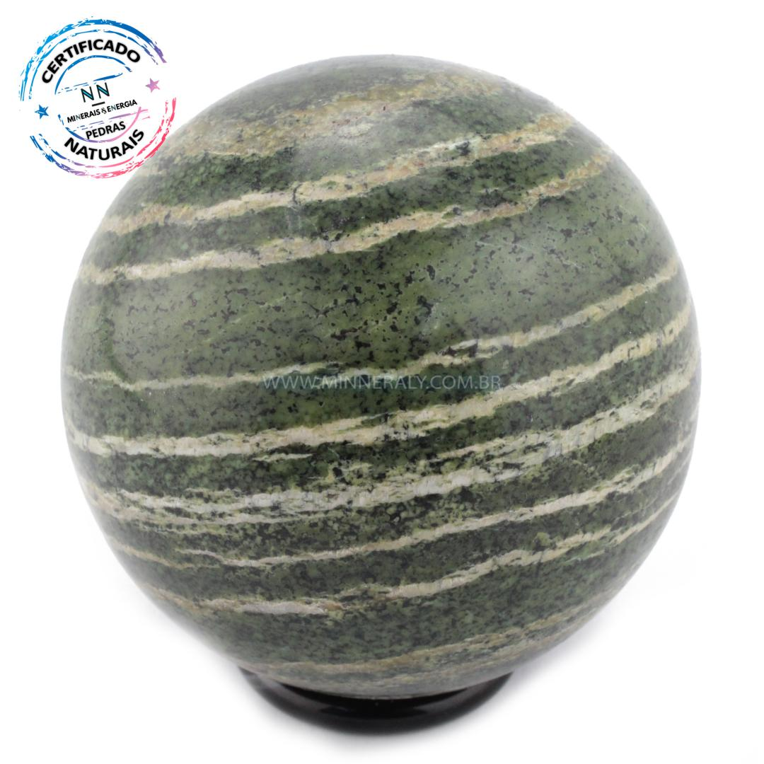 Esfera de Crisotila (crisotita) IN Natura (0,418KG; Diam: 6,8CM)
