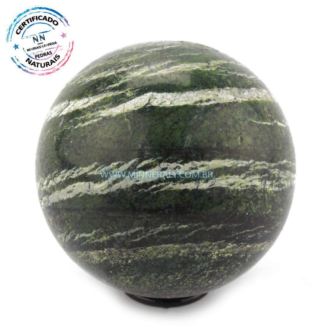Esfera de Crisotila (Crisotita) in Natura (0,256kg; 6,6cm) #NN112