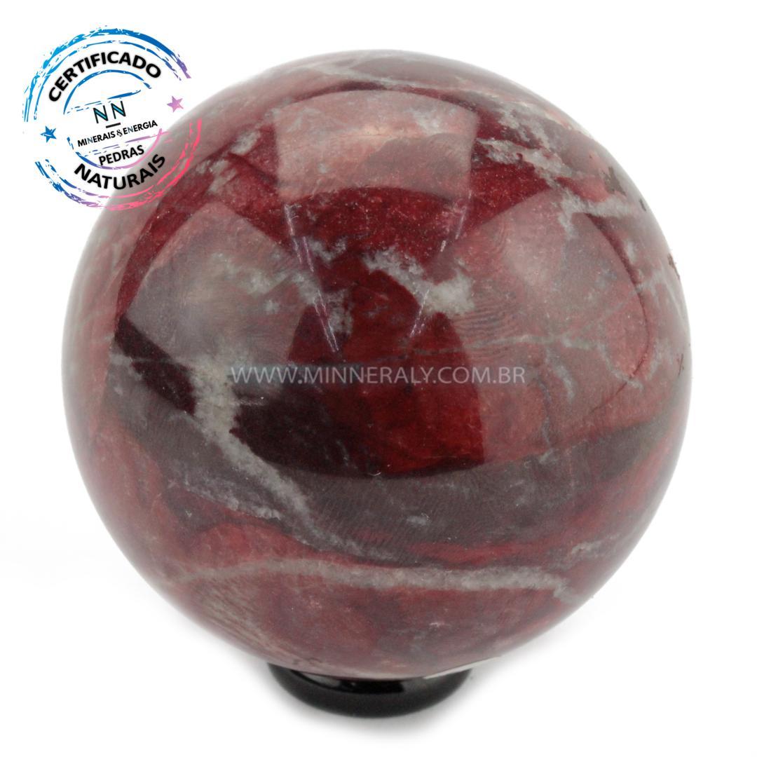 Esfera de Dolomita Vermelha in Natura (0,600kg; 7,1cm) #NN170