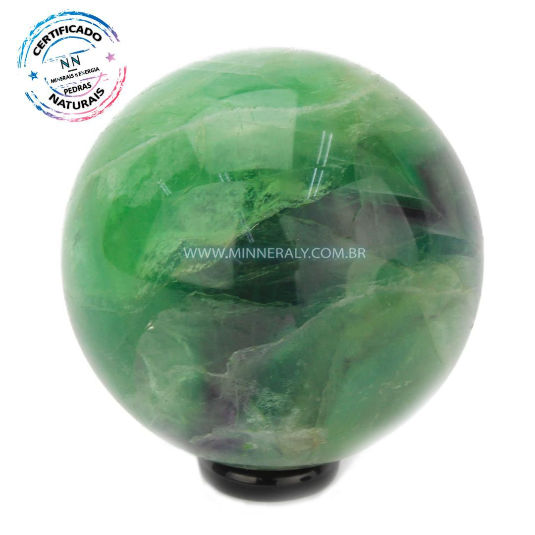 Esfera de Fluorita ARCO-IRIS IN Natura (0,662KG; Diam: 6,9CM)