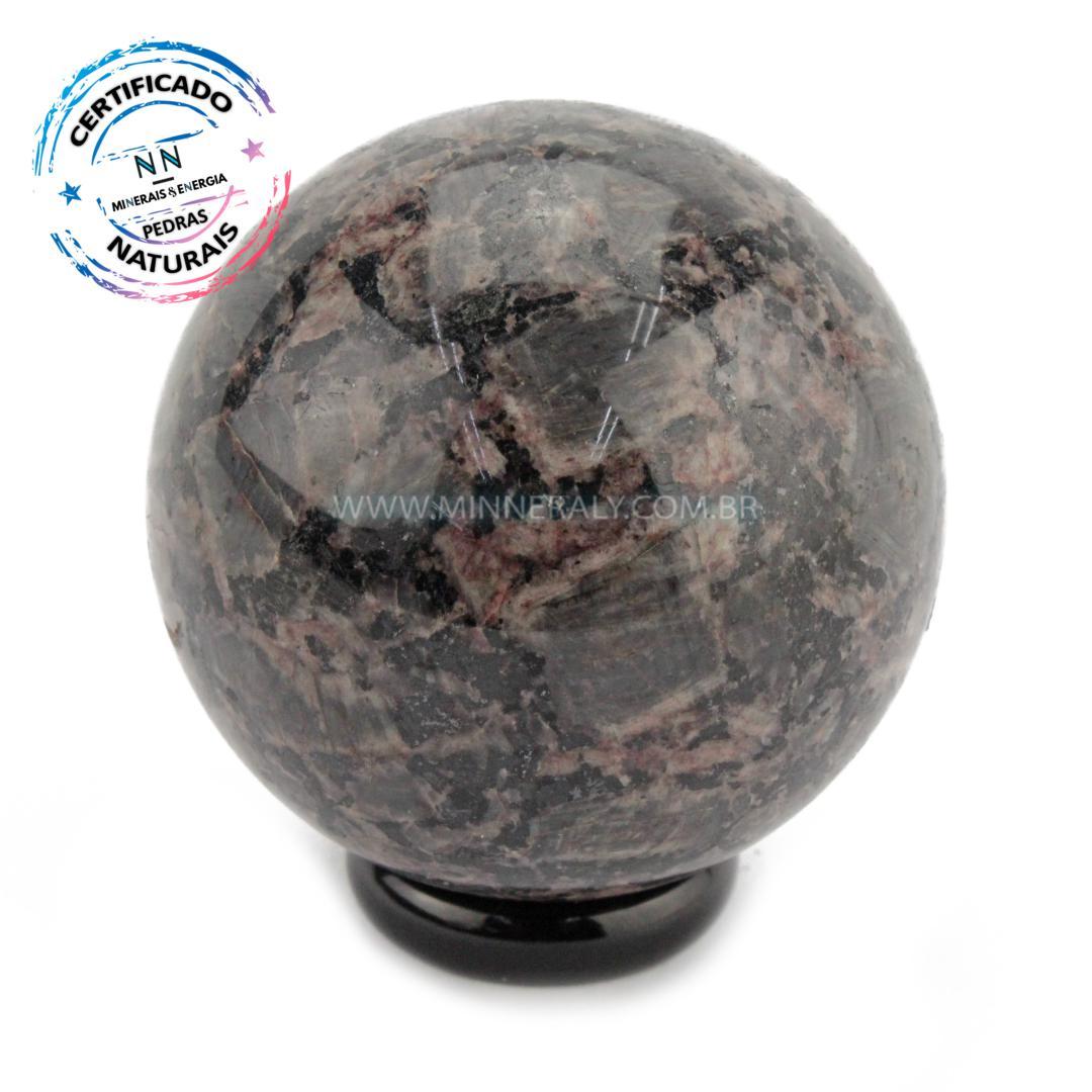 Esfera de Gabro Indigo IN Natura (0,228KG; Diam: 6,4CM)