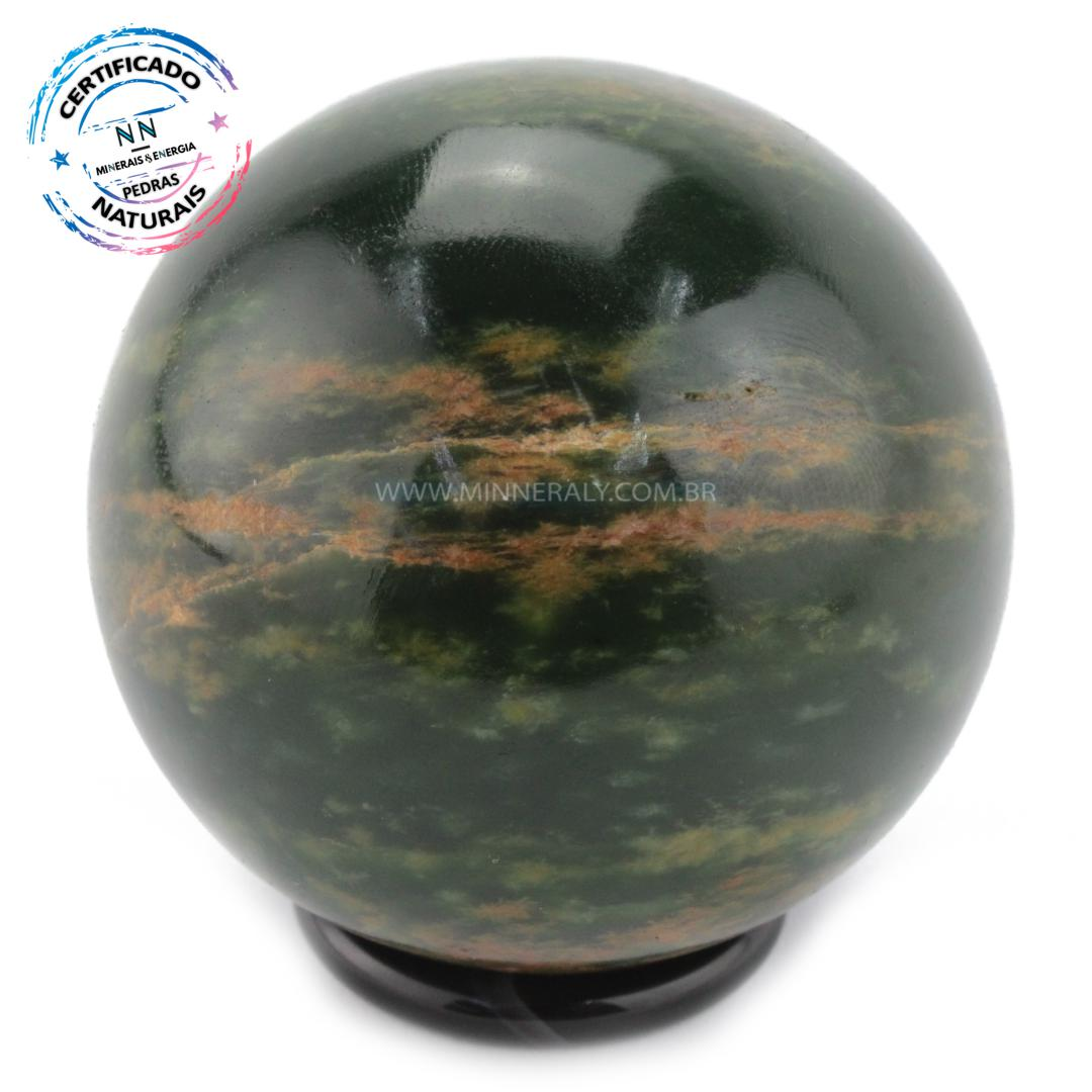 Esfera de Jadeíta IN Natura (0,314KG; Diam: 5,8CM)