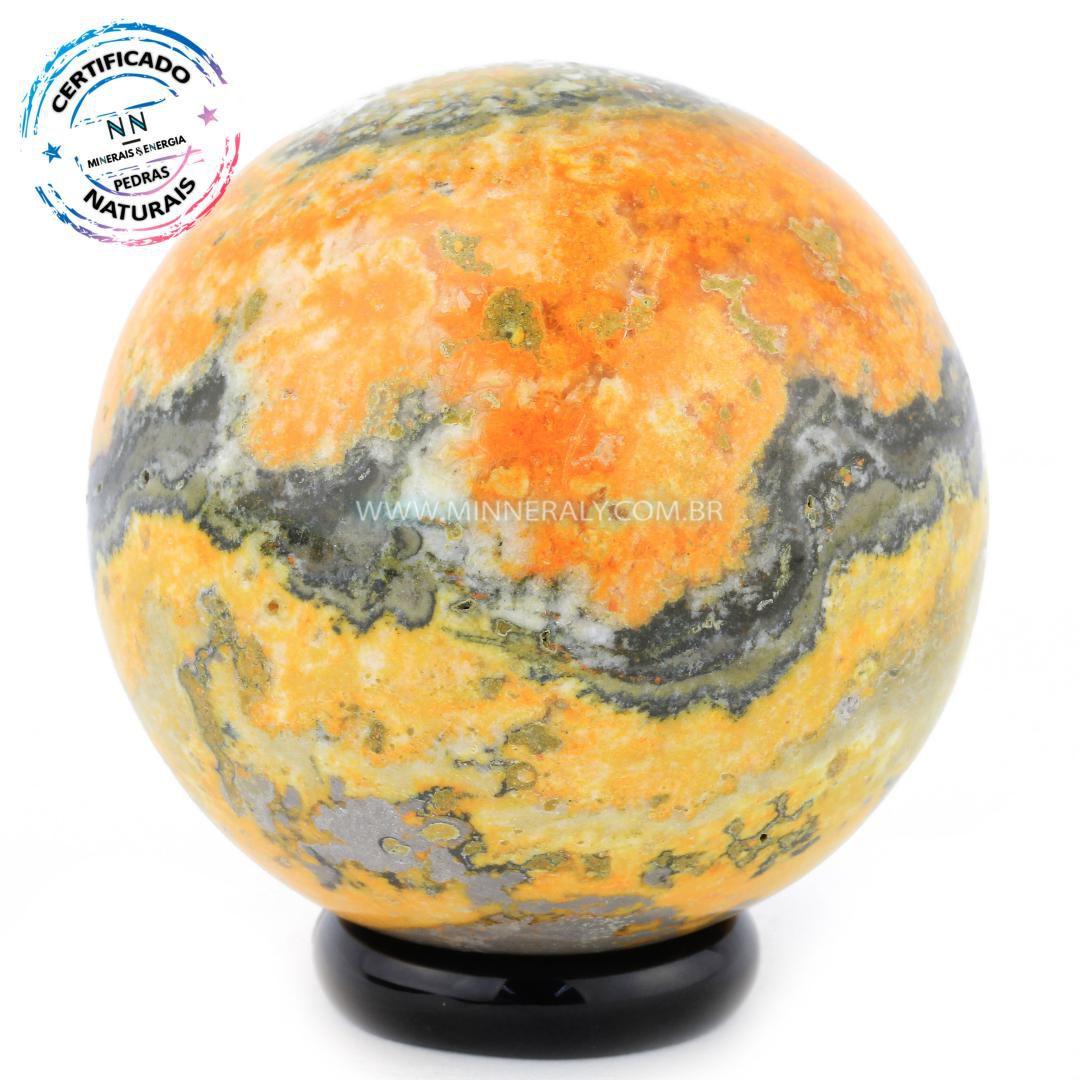 Esfera de Pedra do Eclipse (jaspe Bumblebee ou Mamangaba) IN Natura (0,178KG; Diam: 5,1CM)