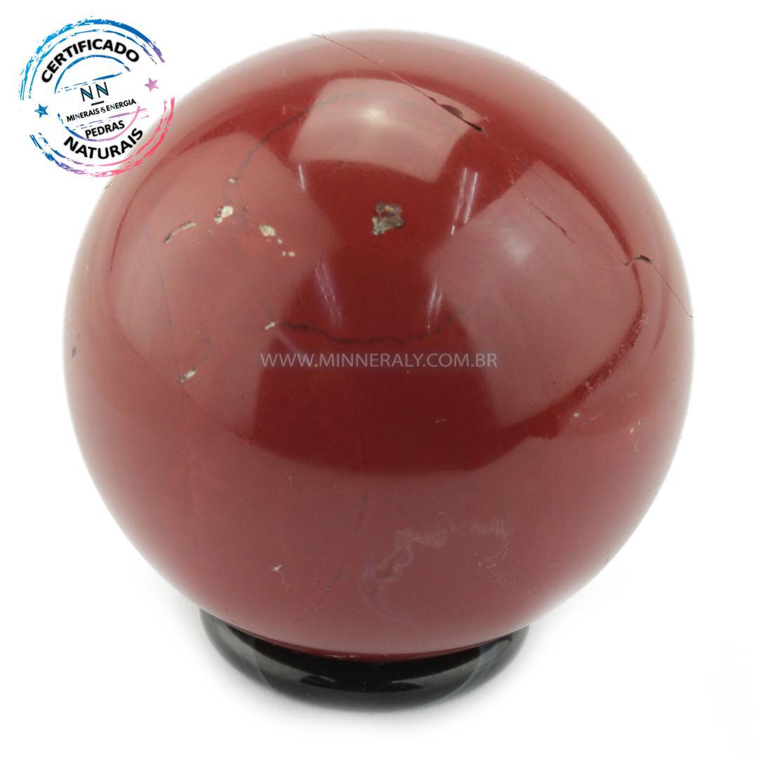 Esfera de Jaspe Vermelho IN Natura (0,302KG; Diam: 6,5CM)
