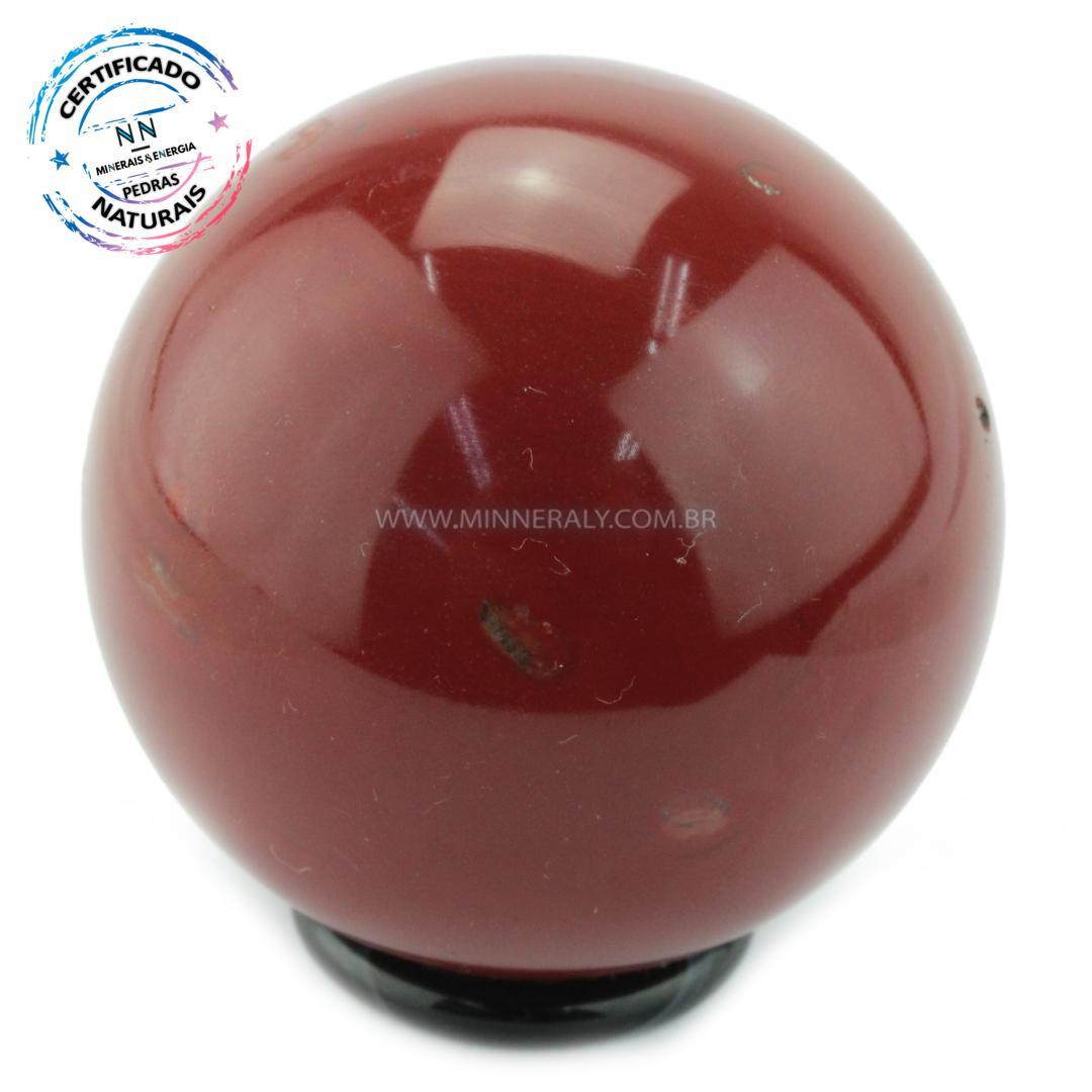 Esfera de Jaspe Vermelho IN Natura (0,338KG; Diam: 6,5CM)