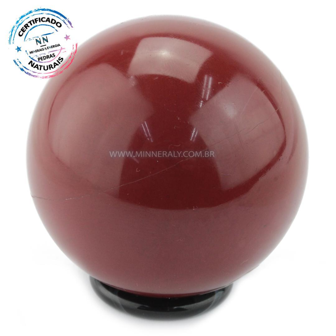 Esfera de Jaspe Vermelho IN Natura (0,342KG; Diam: 6,7CM)