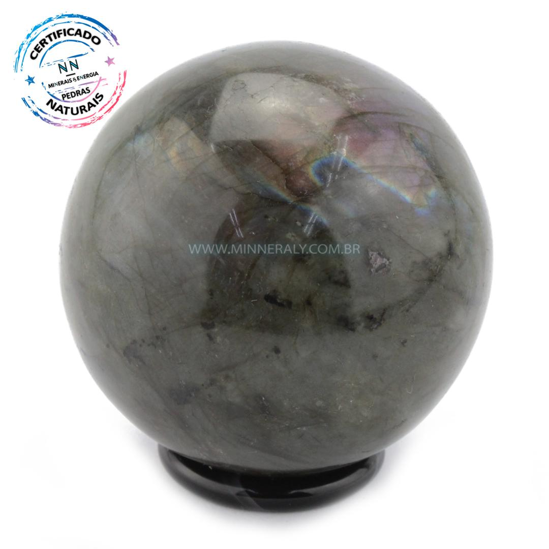 Esfera de Labradorita (espectrolita) IN Natura (0,338KG; Diam: 6,1CM)