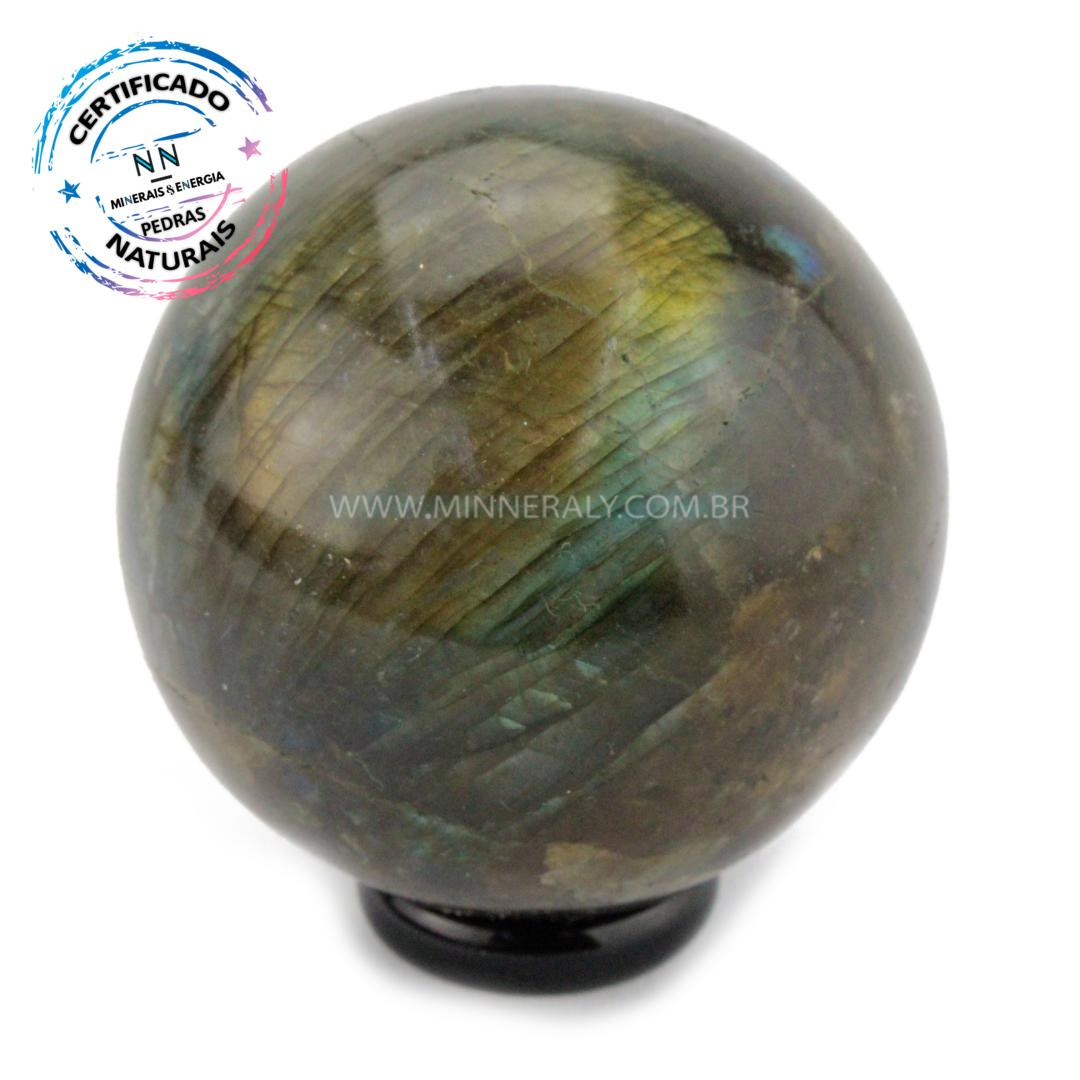 Esfera de Labradorita (espectrolita) IN Natura (0,252KG; Diam: 5,6CM)