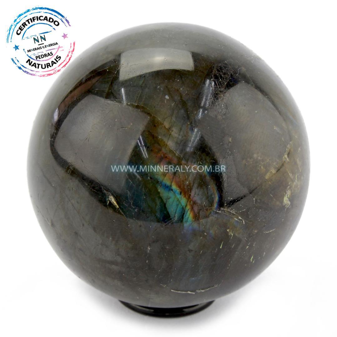 Esfera de Labradorita (espectrolita) IN Natura (0,244KG; Diam: 6,5CM)