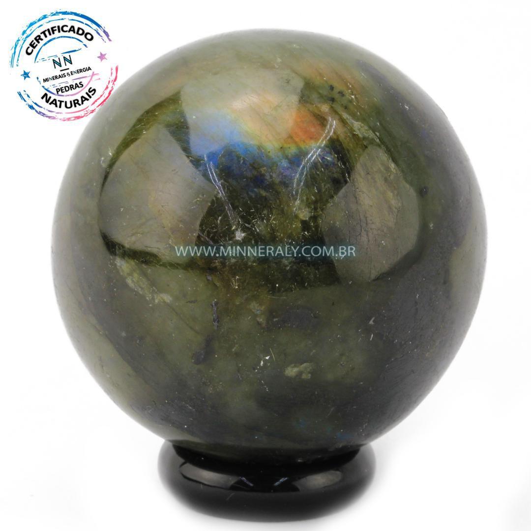 Esfera de Labradorita (Espectrolita) in Natura (0,346kg; 6,2cm) #NN119