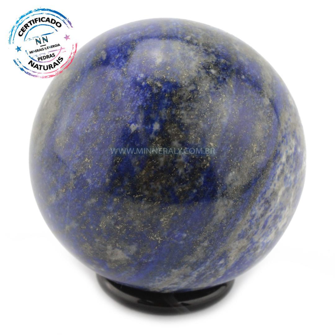 Esfera de LÁPIS-LAZÚLI IN Natura (0,396KG; Diam: 6,8CM)