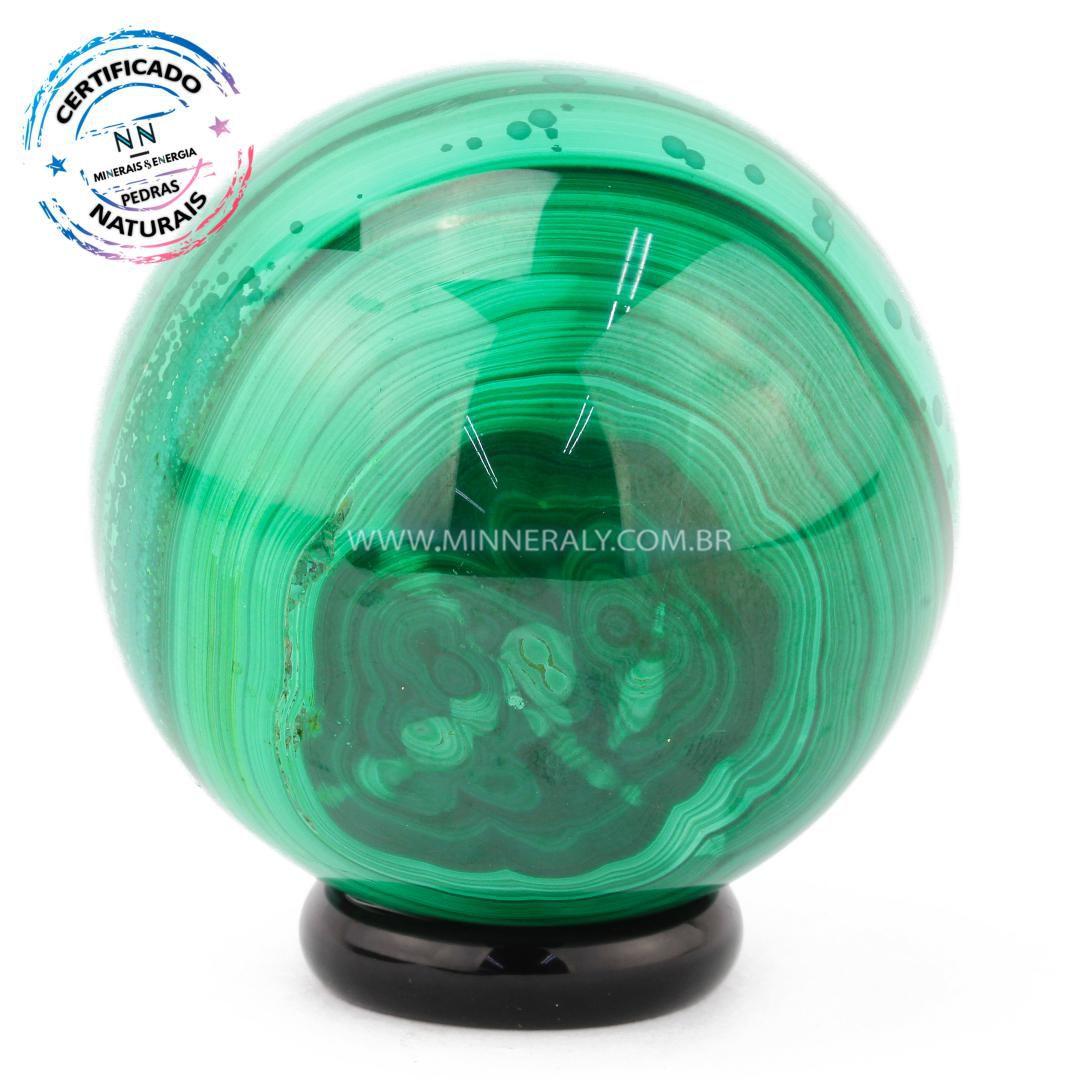 Esfera de Malaquita in Natura (0,254kg; 5,0cm) #NN120